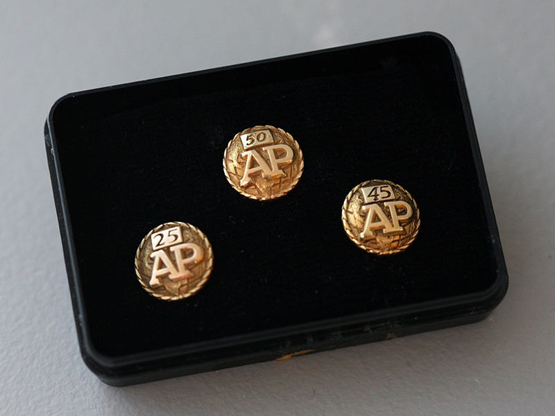 AP employee years-of-service pins
