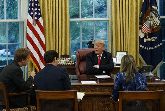 AP staff interview President Trump