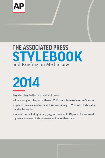 ap press release template - ap stylebook 2014 adds religion chapter with over 200 terms