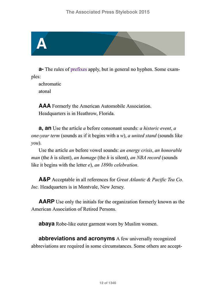 Ap stylebook adds e book edition to digital product suite fandeluxe Choice Image
