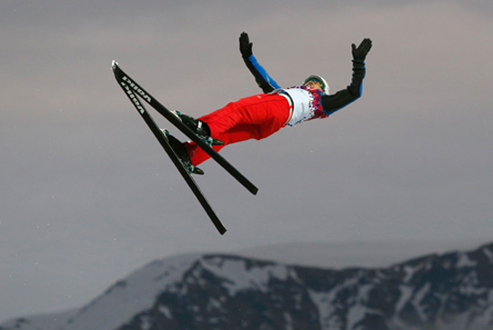 Olympic skier jumping