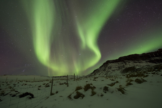 Northern Lights over Bifrost, Western Iceland