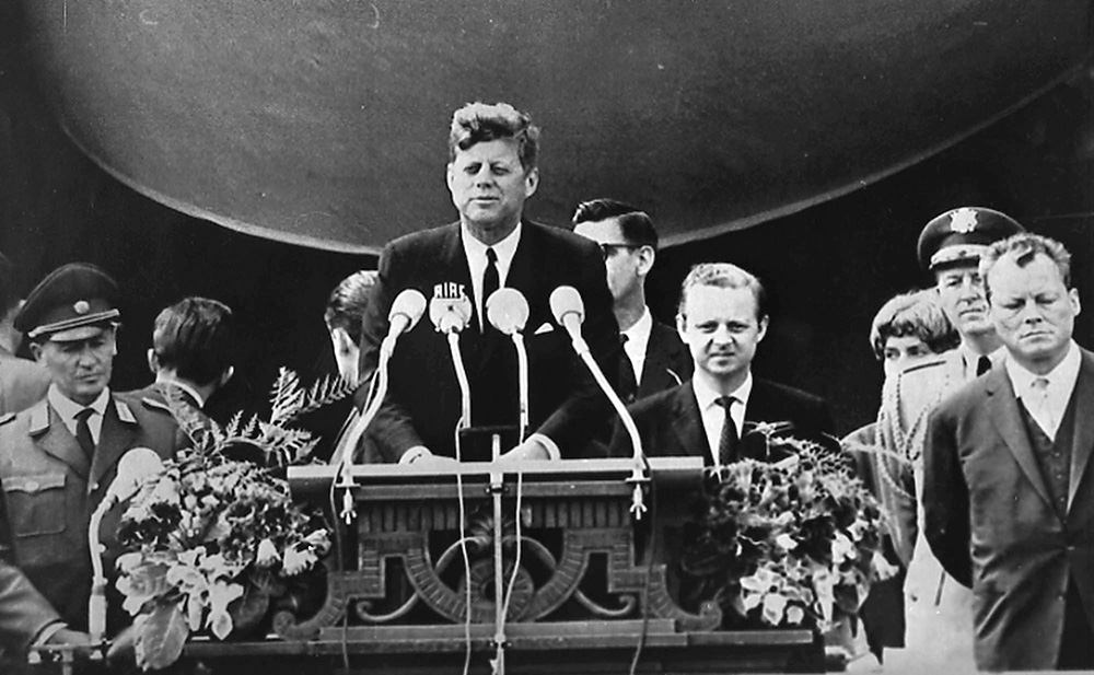 Image result for president kennedy rallies west berlin during the cold war