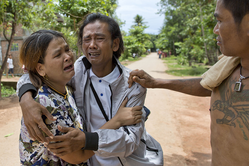 Myanmar fisherman goes home after 22 years as a slave associated press play video video thecheapjerseys Choice Image